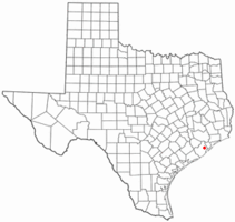 Location of Liverpool, Texas