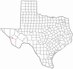 Location of Valentine, Texas