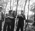 Tableau, men, woods Fortepan 9307.jpg