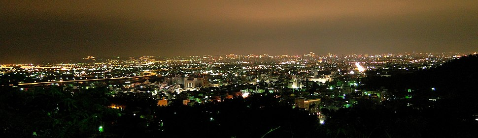 Taichung Metropolitan night view from WuFeng District