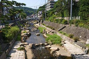 Tamatsukuri Onsen - River going through Tamatsukuri Onsen