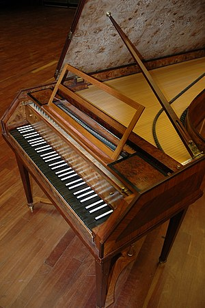 Tangent piano - Reconstruction of a tangent piano according to historical examples by Dierik Potvlieghe