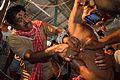 Tapas Dutta Thread Pierces Sushil Panja - Gajan Ritual - Bainan - Howrah 2015-04-14 8103.JPG