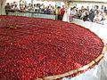 Tarte aux fraises de 8 m de diamètre de Beaulieu sur Dordogne, France 1.JPG