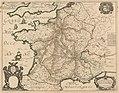 Tavernier - France postal route map 1632.jpg