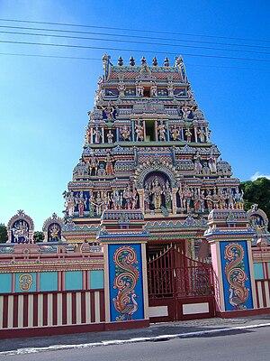 Malbars - A Tamil temple in Réunion.
