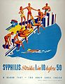 Ten people at a swimming pool, one of whom will be infected Wellcome L0030553.jpg