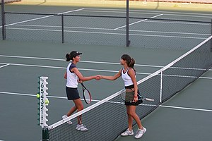 Handshake - Tennis players shaking hands after match