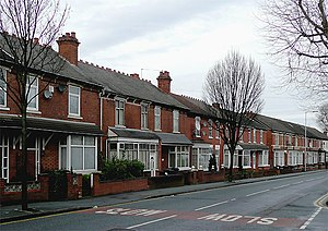 Housing in the United Kingdom - Image: Terraced housing in Lea Road, Wolverhampton geograph.org.uk 1735604