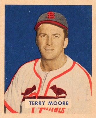 Terry Moore (baseball) - Image: Terry Moore 1949