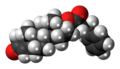 Testosterone phenylpropionate molecule spacefill.png