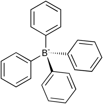 Counterion - Image: Tetraphenylborate