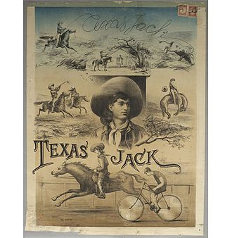 Texas Jack Jr. - Texas Jack Jr. show Advertising poster