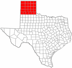 Map of the Texas Panhandle