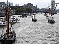 Thames barge parade - through Tower Bridge into the Pool 6691.JPG