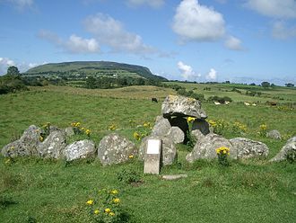 Passage grave - A simple passage tomb in Carrowmore near Sligo in Ireland