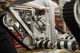 Ithaca High School (Ithaca, New York) - Student fabricated robot frame