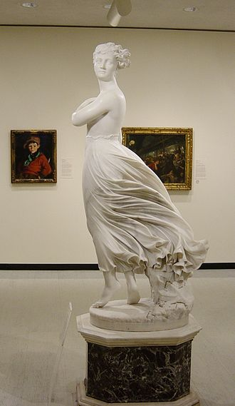 Marble sculpture - Thomas Ridgeway Gould. The West Wind. (profile)  1876.
