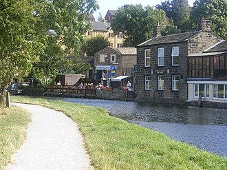 "Rodley, West Yorkshire - Image: The ""Rodley Barge"" geograph.org.uk 832190"
