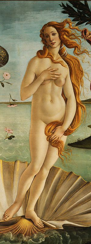 Woman - Detail of Sandro Botticelli's The Birth of Venus (circa 1485)