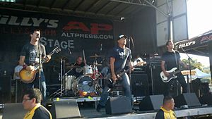 The Black Pacific - Image: The Black Pacific at Warped Tour 2011 08 09 01