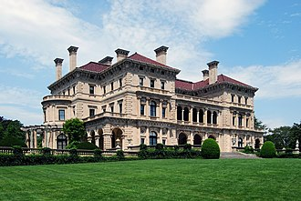 Gilded Age - The Breakers, a Gilded Age mansion in Newport, Rhode Island, belonging to the wealthy Vanderbilt family of railroad industry tycoons