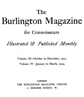 <i>The Burlington Magazine</i> Academic journal
