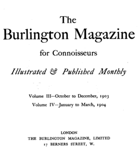 Image illustrative de l'article The Burlington Magazine