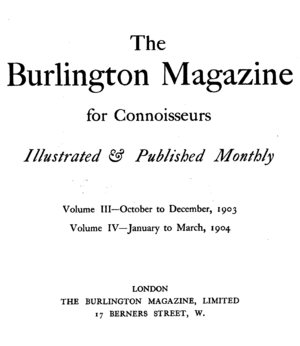 The Burlington Magazine - Image: The Burlington Magazine 1903