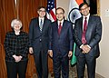 The Chair of the Federal Reserve, Ms. Janet Yellen, the United States Secretary of the Treasury, Mr. Jacob J. Lew, the Union Minister for Finance, Corporate Affairs and Information & Broadcasting.jpg
