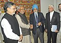 The Chief Minister of Bihar, Shri Nitish Kumar meeting the Deputy Chairman, Planning Commission, Shri Montek Singh Ahluwalia to finalize the Annual Plan for Bihar for the year 2011-12, in New Delhi on February 15, 2011.jpg