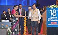 The Chief Minister of Gujarat, Smt. Anandiben Patel lighting the lamp to inaugurate the 18th National Conference on e-Governance, in Gandhinagar, Gujarat on January 30, 2015.jpg