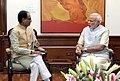 The Chief Minister of Madhya Pradesh, Shri Shivraj Singh Chouhan calling on the Prime Minister, Shri Narendra Modi, in New Delhi on March 27, 2015 (1).jpg