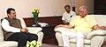 The Chief Minister of Maharashtra, Shri Devendra Fadnavis meeting the Union Minister for Civil Aviation, Shri Ashok Gajapathi Raju Pusapati, in New Delhi on June 08, 2015.jpg
