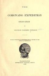 George Parker Winship: The Coronado Expedition, 1540-1542