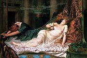 Death of Cleopatra by Reginald Arthur.