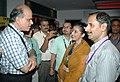 The Director General (M&C) & Director, DFF, Shri S.M. Khan interacting with Actress Manisha Koirala, at the IFFI-2010, at Panaji, Goa on November 24, 2010.jpg
