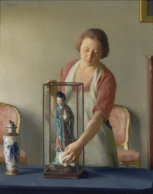 """The Figurine"" by William McGregor Paxton"