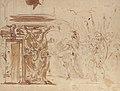 The Head of Pompey Presented to Julius Caesar (recto); Study for an Elaborate Door Frame (verso) MET 61.210 VERSO.jpg