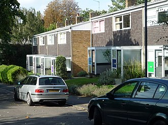 Span Developments - The Keep, Blackheath, a typical set of  houses to Eric Lyons' T2 design