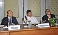 The Minister of State (Independent Charge) for Tourism, Shri K. Chiranjeevi at an Interactive Session with CII Tourism Committee Members, in New Delhi on March 13, 2013. The Tourism Secretary, Shri Parvez Dewan is also seen.jpg