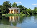 The Music Temple and lake in West Wycombe Park (geograph 5810445).jpg