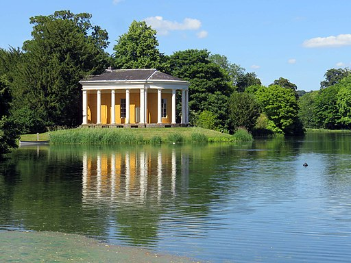 The Music Temple and lake in West Wycombe Park (geograph 5810445)