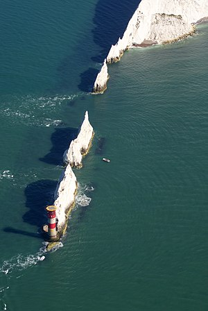 Needles Lighthouse - Aerial view of Needles Lighthouse