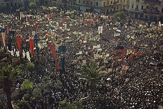 Dekemvriana - 18 October 1944; the crowd celebrates the Liberation and the coming of Papandreou Government.