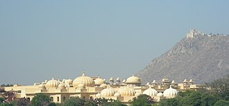 The Oberoi Group - Image: The Oberoi Udaivilas Hotel, and the Monsoon Palace on the hill above, Udaipur