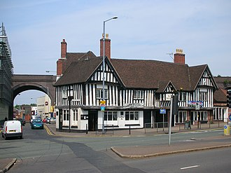 Deritend - The Old Crown in Deritend is the only surviving Medieval building in Birmingham city centre.