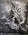 The Phillip Medhurst Picture Torah 116. Abraham sacrificing Isaac. Genesis cap 22 vv 10. Brun.jpg