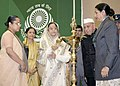 The President, Smt. Pratibha Devisingh Patil lighting the lamp to inaugurate the National Conference on Access to Justice for Women, in New Delhi on November 25, 2007.jpg
