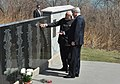 The Prime Minister, Shri Narendra Modi at the Air India Memorial Site, in Toronto, Canada on April 16, 2015. The Prime Minister of Canada, Mr. Stephen Harper is also seen.jpg